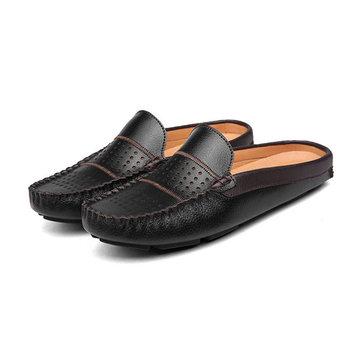 Les hommes respirante évider chaussures en cuir mocassin occasionnels conduite richelieus loafer