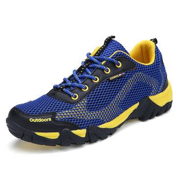 Taille 36-44 dentelle unisexe jusqu'à maille respirante chaussures de sport chaussures de marche en plein air