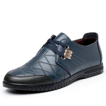 Les hommes chaussures de sport en cuir bas en plein air lacets mode top flats richelieus