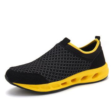 Hommes occasionnels en plein air mesh respirant chaussures de sport de semelle souple marche chaussures de sport