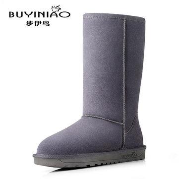 Femmes bottes d'hiver de neige mi mollet garder bottes chaudes bottes d'hiver à fond plat