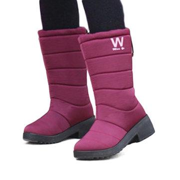 Les femmes hiver garder la neige chaude bottes de neige imperméables bottes souples d'hiver bout rond semelle