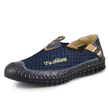 Chaussures& plates& en& cuir& véritable& à l'extérieur pour hommes souples