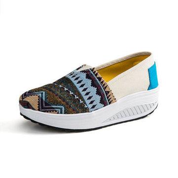 Nouvelles femmes automne baskets sportives à faible top sneakers toile plate-forme de chaussures chaussures de swing&