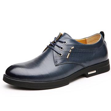 Chaussures en cuir hommes décontracté slip plat à l'extérieur sur les affaires oxfords