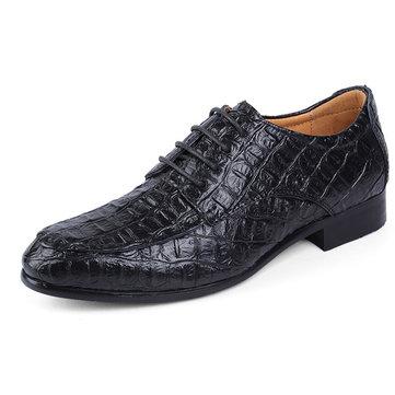 Taille nous 6.5-12 grands hommes de taille lacent richelieus en cuir bout pointu chaussures formelles
