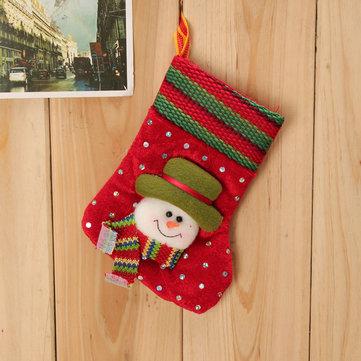 Arbre de Noel des enfants de bébé décoration stockage tricoté des chaussettes