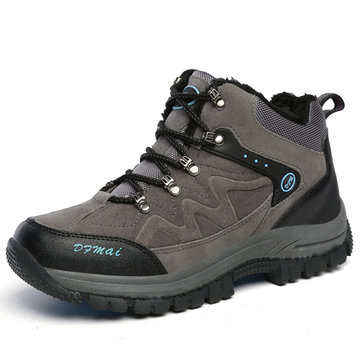 Grande unisexe taille d'hiver garder chauds occasionnels peluche chaussures sport course bottes de plein air