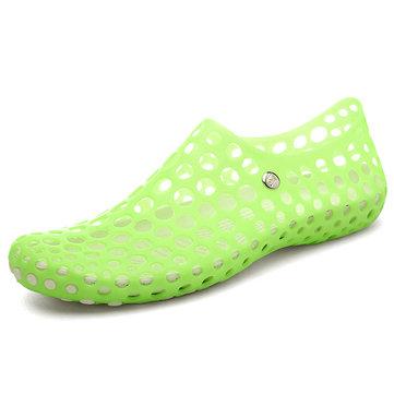 Grande taille occasionnels creux à bout rond chaussures