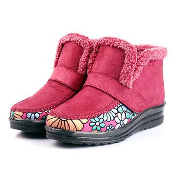 Chaussuresencotonàlafourrure en fourrure en fourrure Gardez les bottes courtes chaudes d'hiver
