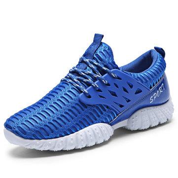 Hommes chaussures de sport lacent respirant chaussures de sport course à pied