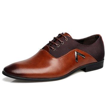 Taille nous 6.5-10.5 hommes chaussures en cuir confortables affaires orteil pointu occasionnels chaussures en cuir souple