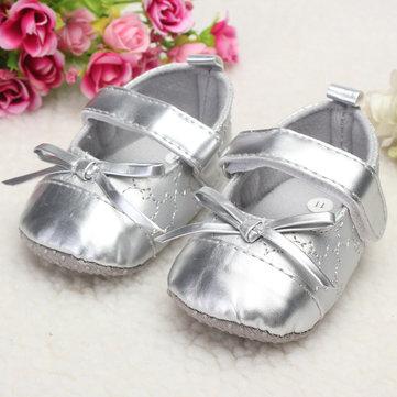 Infantile cuir bambin bébé fille brillance unique bowknot doux marchant belle parm crèche chaussures nouveau-nés&