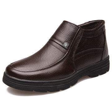 Des hommes nouveaux hiver garder au chaud coton peluche de haute top occasionnels confortables lacets bottes chaussures