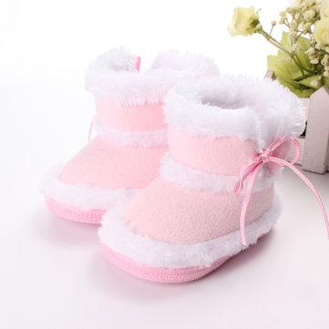 Bambin chaussures bébé de lapin coton bordage léopard bottes de velours