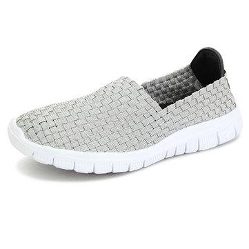 Femmes chaussures de sport chaussures de marche respirant tricot chaussures de sport