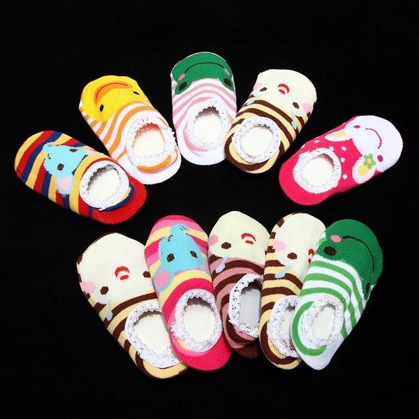 Bébé kid chaussettes antidérapantes cheville bottillons sox chaussure 6-24 mois