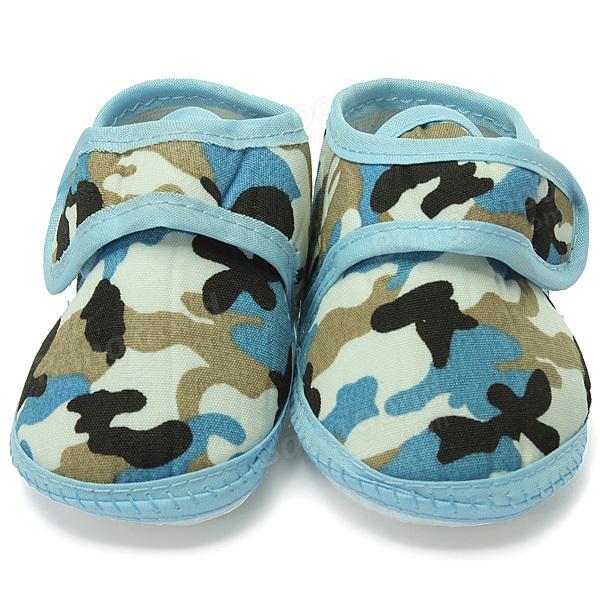 Camouflage semelle souple chaussures crèche de prewalker garcon infantile bambin