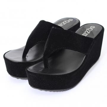 Plate-forme haute talons compensés chaussures bascule string flop la pantoufle