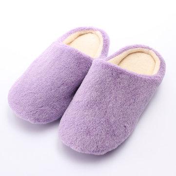Femmes hommes l'hiver étage domestique en intérieur pantoufle chaussures chaudes et douces