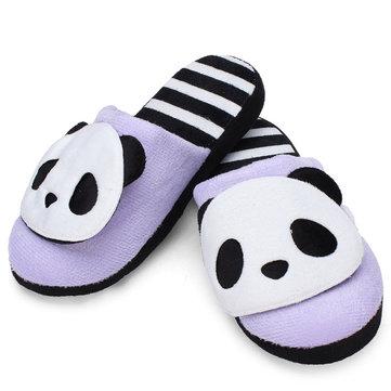 Automne hiver au chaud panda mignon domicile chaussures de pantoufles de fond mou