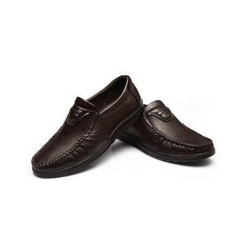 Homme Noir chaussures oxford marron en cuir véritable mocassins mocassins