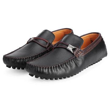 Mocassin bateau les chaussures en cuir de style britannique hommes conduisant richelieus loafer