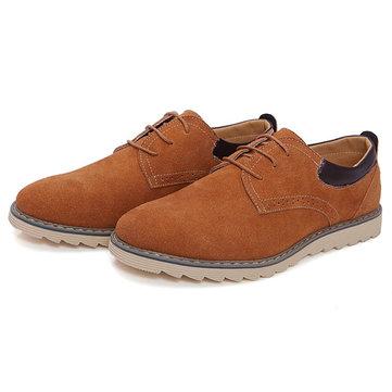 Grande taille hommes nouveaux automne lacent daim casual chaussures de sport plats