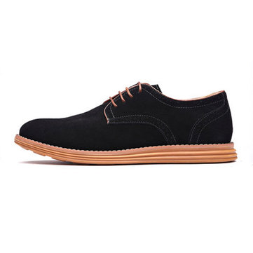 Grande taille hommes nouveaux automne lacent occasionnels chaussures de sport en daim plat