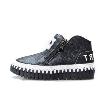 Enfants unisexe hiver en cuir véritable confortable chaussures de sport