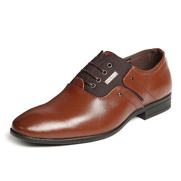 Taille& des& états-Unis& 7.5-11.5& Men's& Leather Elastic Farbic Business Formal Shoes