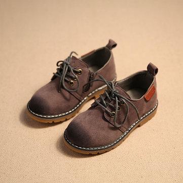 Classique angleterre de style vintage chaussures enfants chaussures bottes garcons filles en cuir décontractée