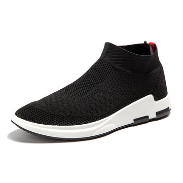 Hommes respirant tricoté Casual Shock Absorption Sneakers