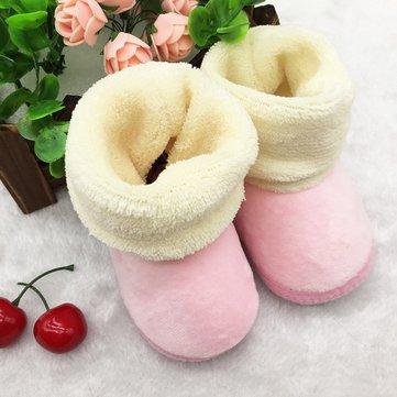 Nés doux hiver seul bébé de démarrage à chaud chaussures fille prewalker douce tout-petit&