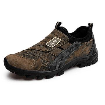 Taille nous 6.5-10.5 hommes chaussures de sport casual de glissement en daim sur l'exécution de chaussures de sport de plein air