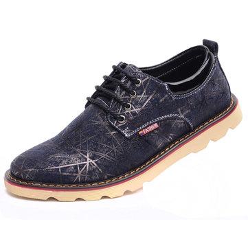 Taille nous respirant facon confortable dentelle 6.5-11 hommes occasionnels plate oxfords chaussures