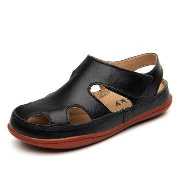 2016 nouveaux enfants sandales garcons filles véritables enfants de cuir découpés chaussures