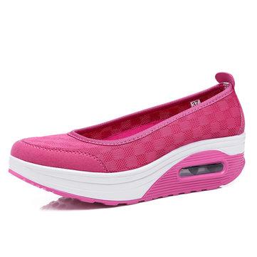 Maille rocker chaussures chaussures à semelle de santé glissent sur des chaussures de sport de plein air sport