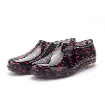 Camouflage glissement sur ??les bas top bout rond pluie chaussures