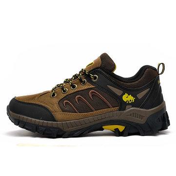 Dentelle hommes chaussures de montagne jusqu'à chaussures de marche chaussures de sport en plein air respirant