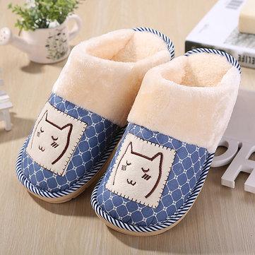 Nouveau dessin animé d'hiver intérieur maison garder chauds amant de coton en peluche confortables chaussures pantoufle