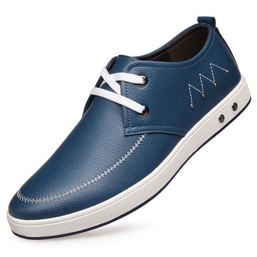 Hommes lacent richelieus en cuir souple semelle souple chaussures d'affaires formelles