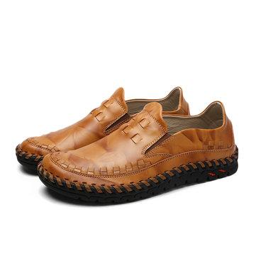 Nouveau feuillet d'hommes en cuir sur l'extérieur occasionnels doux et confortables chaussures plates oxfords