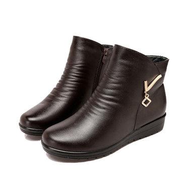 BottesFemmesCuird'hiverCuirChaussures Chaussures