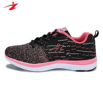 Delocrd grande taille unisexe de course de sport de la dentelle douce jusqu'occasionnels non-glissement de plein air chaussures de sport