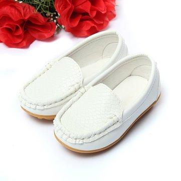 Les chaussures pour enfants, des chaussures de tennis les flats enfants garcons filles bateau glisse sur des chaussures à semelle souple