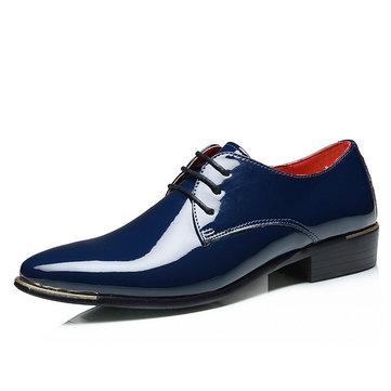 Taille des états-Unis 7.5-11.5 Chaussures habillées en cuir ciré