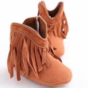 Pompon chaussures conception de crèche bébé chaussures fille d'hiver tout-petits nouveau-né bottes à semelle souple bébé