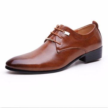 Hommes européens style ogival dentelle orteil plates oxford chaussures d'affaires formelle