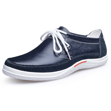 Lace Up Hommes Oxfords Casual Chaussures plates en cuir